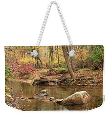 Shades Of Fall In Ridley Park Weekender Tote Bag by Patrice Zinck