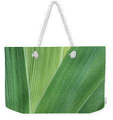 Weekender Tote Bag featuring the photograph Shades Of Green #2 by Judy Whitton