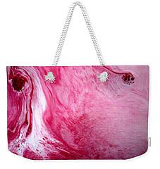 Weekender Tote Bag featuring the painting Shades Of Pink by Salman Ravish