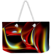 Weekender Tote Bag featuring the digital art Shades Of Red by Greg Moores
