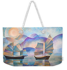 Shades Of Tranquility Weekender Tote Bag by Tracey Harrington-Simpson