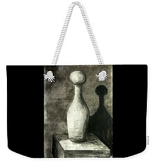 Weekender Tote Bag featuring the drawing Shadow And Light by Leanne Seymour