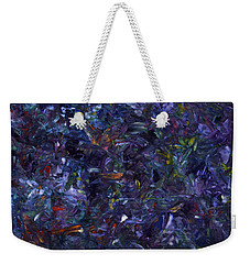 Weekender Tote Bag featuring the painting Shadow Blue by James W Johnson