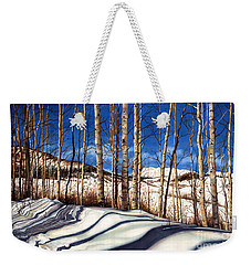 Weekender Tote Bag featuring the painting Shadow Dance by Barbara Jewell