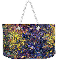 Weekender Tote Bag featuring the painting Shadow Dance by James W Johnson
