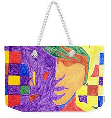 Weekender Tote Bag featuring the painting Prince Gemini   by Stormm Bradshaw