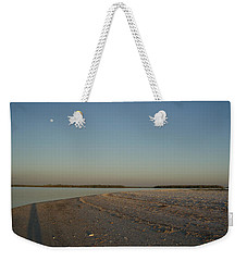 Weekender Tote Bag featuring the photograph Shadow Moon by Robert Nickologianis