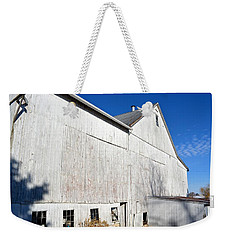 Shadow On White Barn Weekender Tote Bag