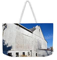 Shadow On White Barn Weekender Tote Bag