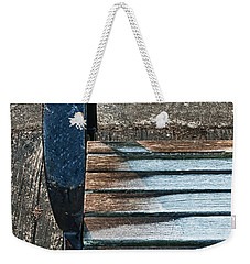 Shadow Protecting Frost On Bench Weekender Tote Bag by Gary Slawsky