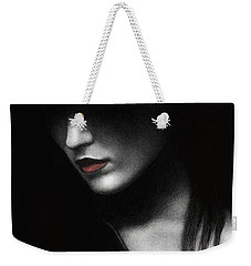 Weekender Tote Bag featuring the painting Shadowed In My Mind by Pat Erickson