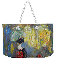 Shadows And Lights In Kyoto  Weekender Tote Bag