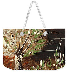Weekender Tote Bag featuring the painting Shadows by Holly Carmichael