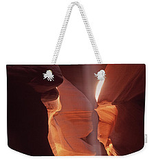 Shaft Of Light Antelope Canyon Weekender Tote Bag
