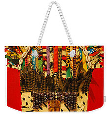 Weekender Tote Bag featuring the tapestry - textile Shaka Zulu by Apanaki Temitayo M