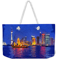 Shanghai During Dusk Time Weekender Tote Bag