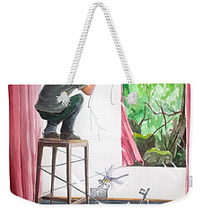 Shaping The Peace Listen With Music Of The Description Box Weekender Tote Bag by Lazaro Hurtado