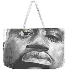 Weekender Tote Bag featuring the drawing Shaq by Tamir Barkan