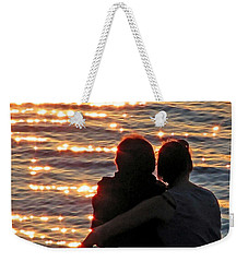 Sharing A Sunset Squared Weekender Tote Bag by Chris Anderson
