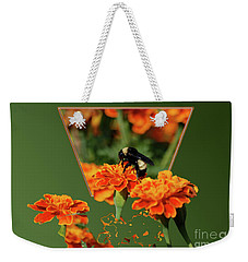 Weekender Tote Bag featuring the photograph Sharing The Nectar Of Life by Thomas Woolworth