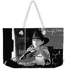 Weekender Tote Bag featuring the photograph Sharon Stone The Quick And The Dead Publicity Photo by David Lee Guss