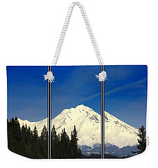 Weekender Tote Bag featuring the photograph Shasta by Athala Carole Bruckner