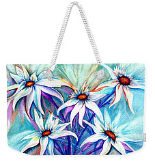 Shasta Daisy Dance Weekender Tote Bag by Janine Riley