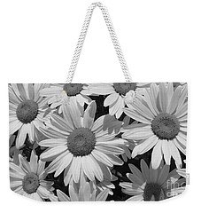 Weekender Tote Bag featuring the photograph Shasta Daisy  by Janice Westerberg