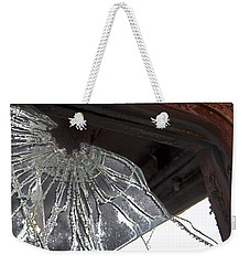 Weekender Tote Bag featuring the photograph Shattered by Lynn Sprowl
