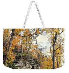 Weekender Tote Bag featuring the photograph Shawee Bluff In Fall by Marty Koch