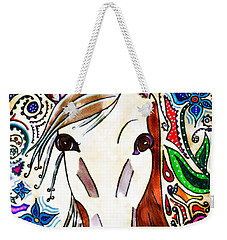 She Grazes Where Flowers Grow - Horse Weekender Tote Bag