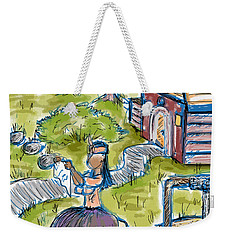She Made Away Weekender Tote Bag