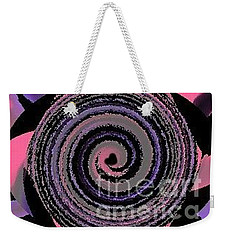 Weekender Tote Bag featuring the digital art She Wirls by Catherine Lott