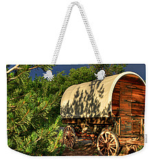 Sheep Herder's Wagon Weekender Tote Bag by Donna Kennedy