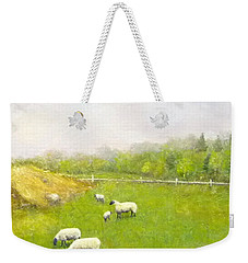 Sheep In Pasture Weekender Tote Bag