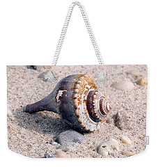 Weekender Tote Bag featuring the photograph Shell by Karen Silvestri
