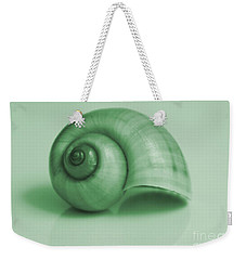 Shell. Light Green Weekender Tote Bag