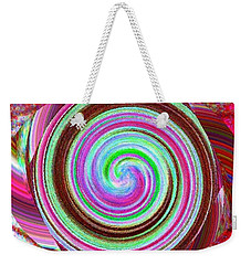 Weekender Tote Bag featuring the digital art Shell Shocked by Catherine Lott