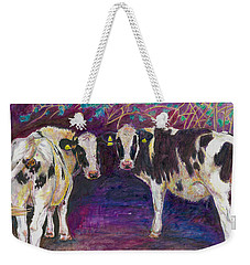 Sheltering Cows Weekender Tote Bag by Helen White