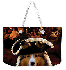 Sheltie - Shetland Sheepdog Art Canvas Print - Pirates Of The Caribbean The Curse Of The Black Pearl Weekender Tote Bag