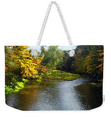 Shenago River @ Iron Bridge Weekender Tote Bag