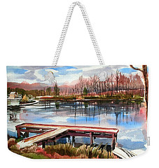 Shepherd Mountain Lake In Winter Weekender Tote Bag