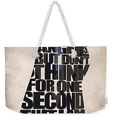 Sherlock - Benedict Cumberbatch Weekender Tote Bag by Ayse Deniz