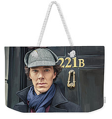Weekender Tote Bag featuring the painting Sherlock Holmes Artwork by Sheraz A