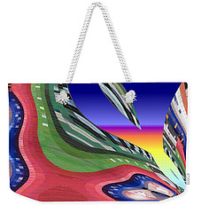 She's Leaving Home Abstract Weekender Tote Bag by Alec Drake