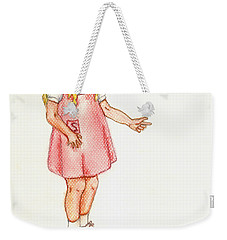 Weekender Tote Bag featuring the pastel Shez by Kim Pate
