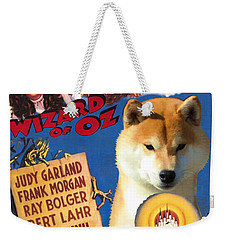 Shiba Inu Art Canvas Print - The Wizard Of Oz Movie Poster Weekender Tote Bag
