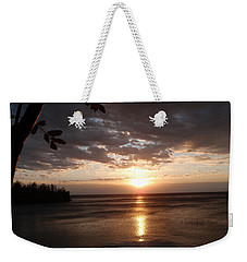 Weekender Tote Bag featuring the photograph Shimmering Sunrise by James Peterson