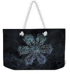 Snowflake Photo - Shine Weekender Tote Bag by Alexey Kljatov