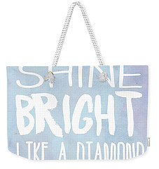 Shine Bright Blue Weekender Tote Bag